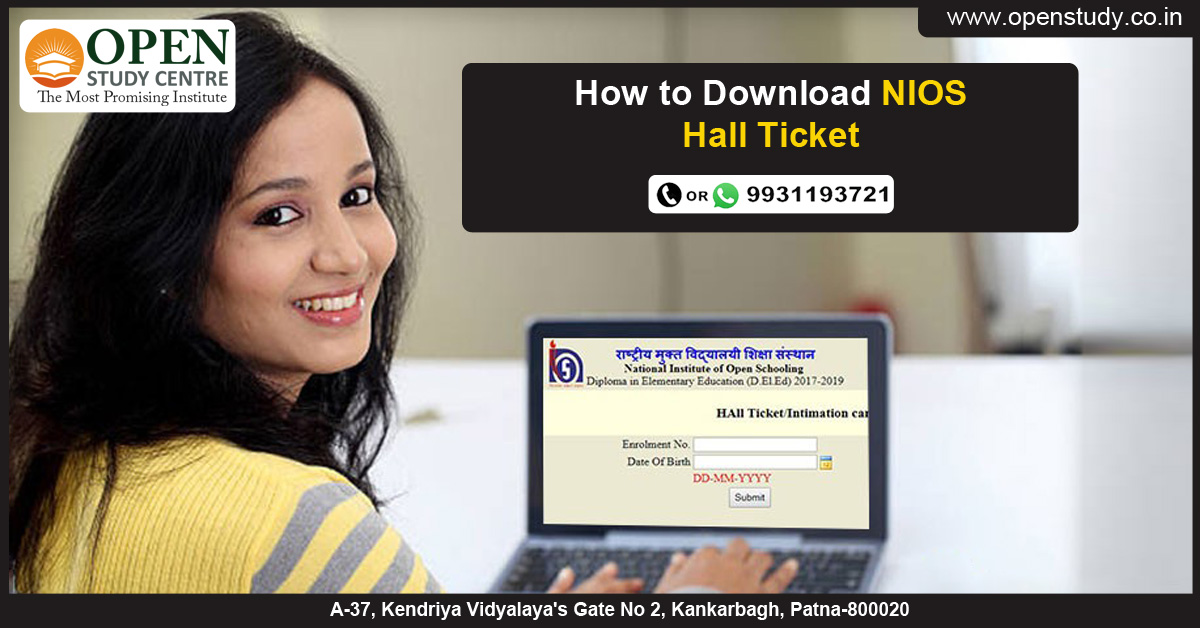 How To download NIOS Hall Ticket