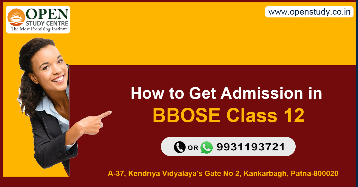How to get admission in BBOSE Class 12